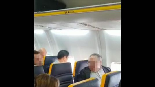 The male passenger was filmed shouting at a woman on a Ryanair flight. Pic: David Lawrence