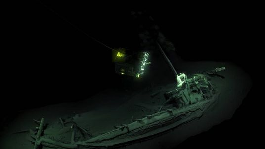 A perfectly preserved Roman vessel was also pulled from the depths