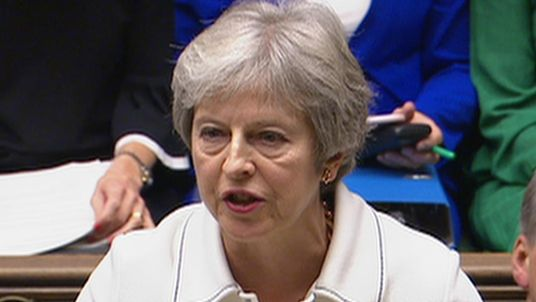 Theresa May delivers statement to the House of Commons on the current state of Brexit negotiations