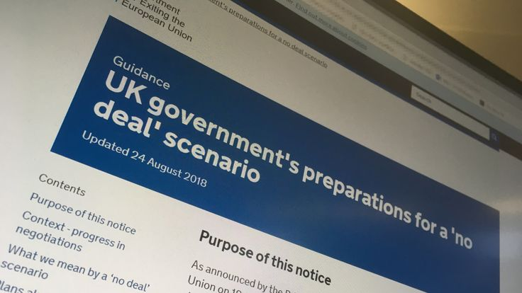 Government guidance on what UK firms and people should be ready for after Brexit