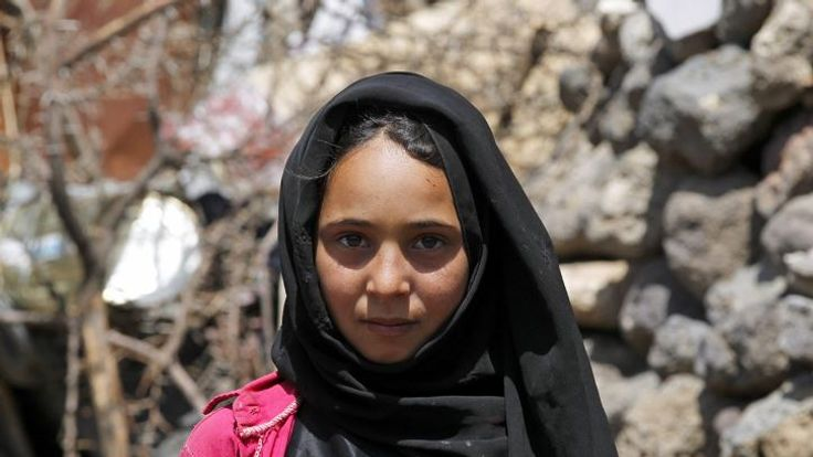 Fatemah, a refugee living on the outskirts of Sanaa. Pic: UNHCR