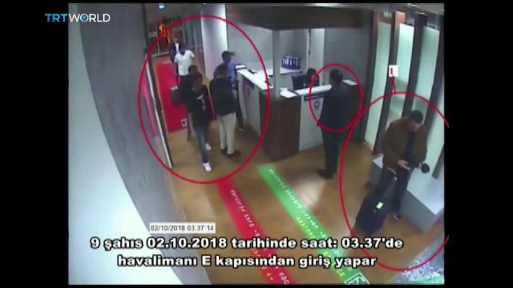 Saudis linked to Jamal Khashoggi disappearance passing through security checkpoint at Istanbul airport