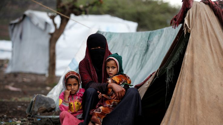 Tens of thousands of displaced families are forced to live in tents