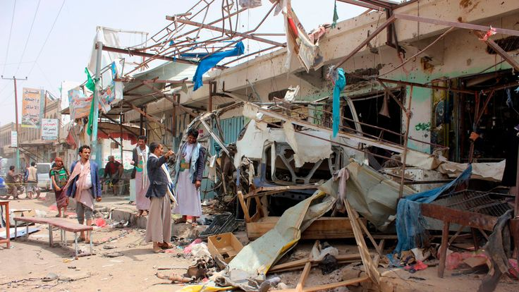 An airstrike on a bus at a market in rebel-held northern Yemen by the Saudi-led coalition killed at least 29 children in August