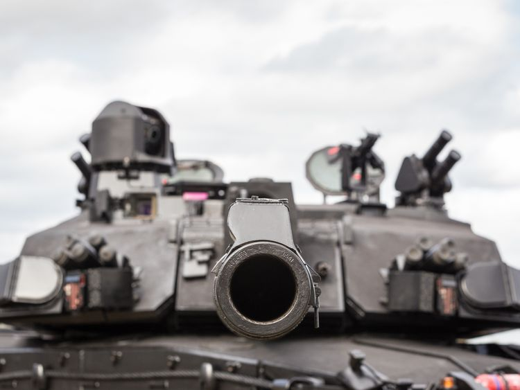 The tanks will be able to automatically launch a counter-explosive at incoming anti-tank missiles. Pic: BAE Systems