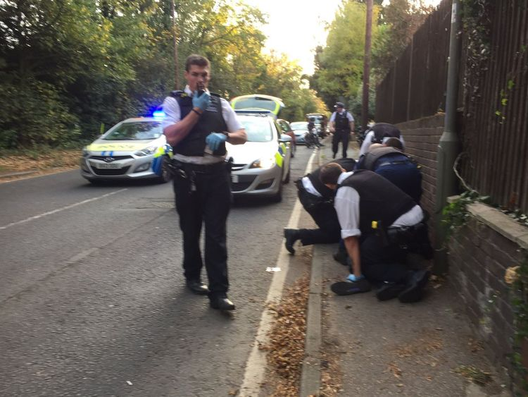 Two officers were stabbed by the suspect. Pic: Dan Friday