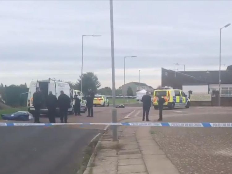 Police attend scene of fatal shooting in Belle Vale, Liverpool