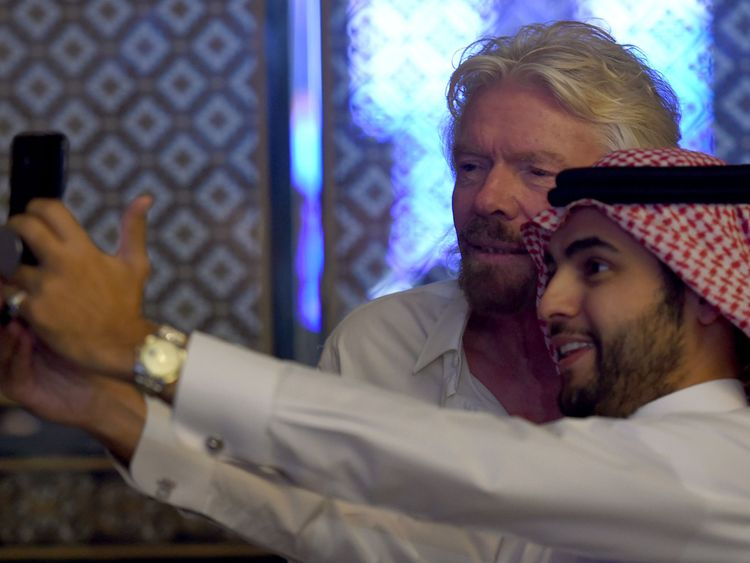 Sir Richard Branson attended last year's event but will not be travelling to Saudi Arabia this year
