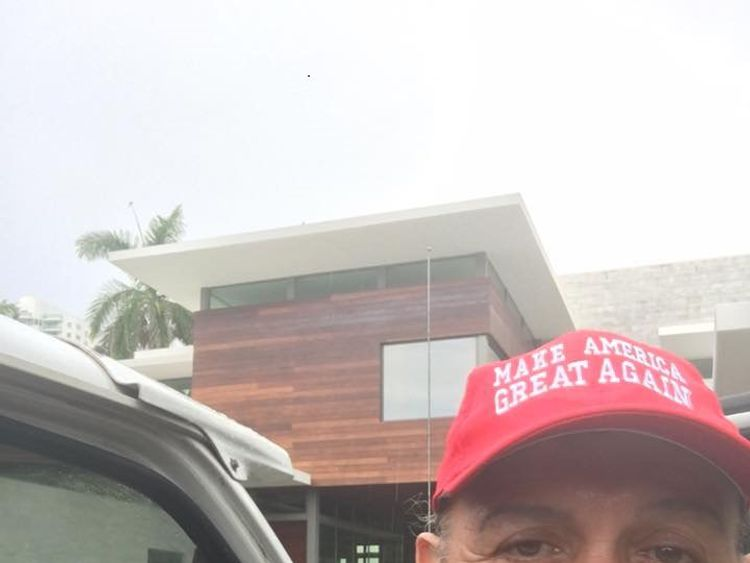 Sayoc shared a picture of himself wearing a 'MAGA' hat. Pic: Cesar Sayoc