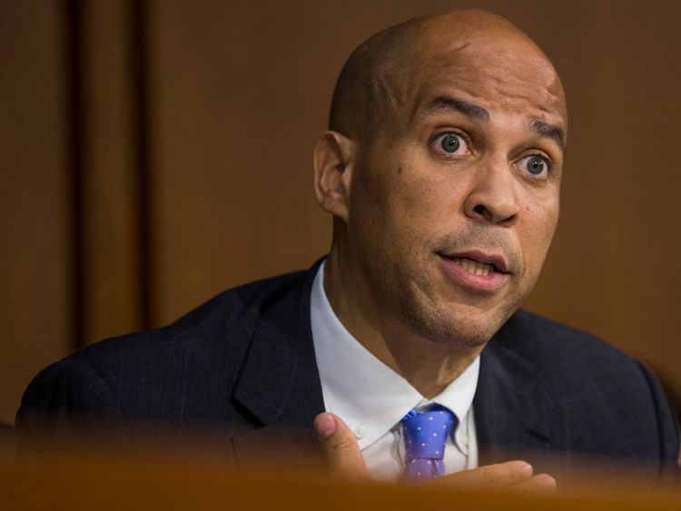 Democrat senator Cory Booker has received a suspicious package