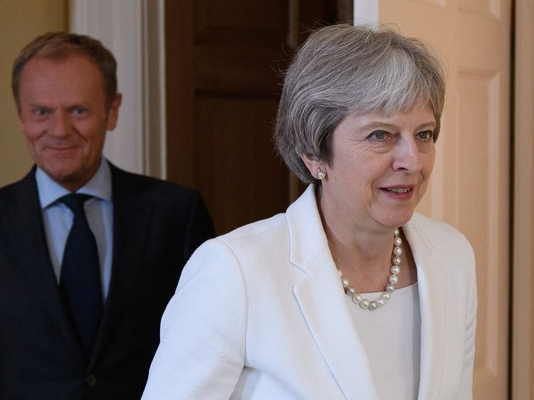 UK's May tells business leaders EU wants autumn Brexit deal