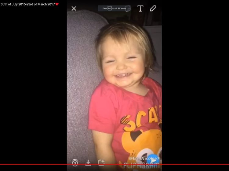 The toddler's mother described her as her 'world'