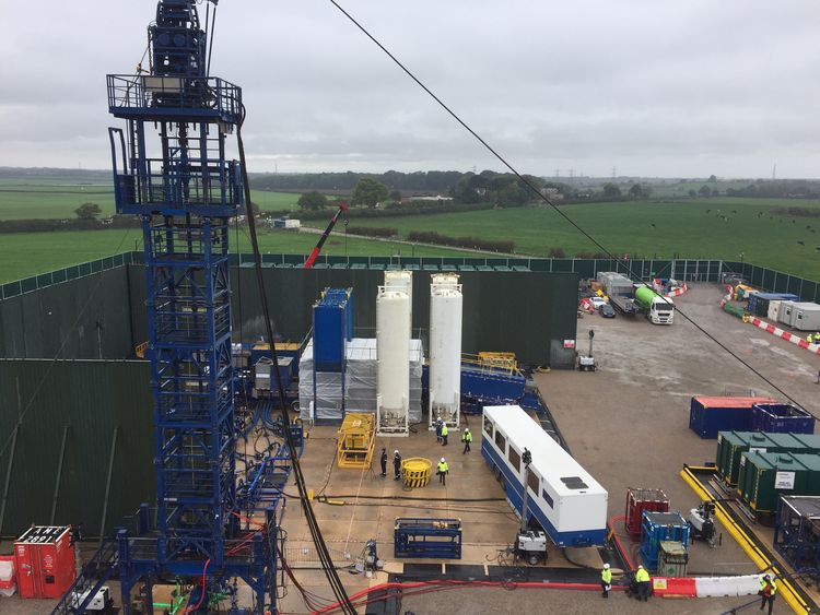 Shale gas fracking suspended in United Kingdom following an quake