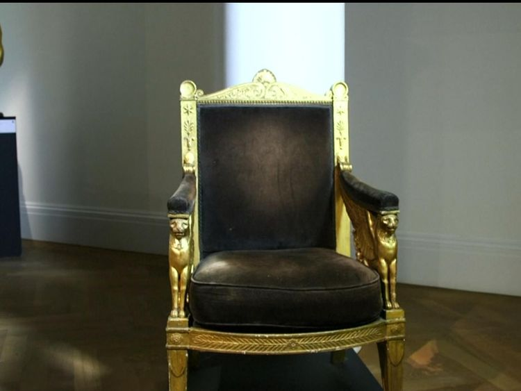 A gilt chair made for Napoleon's throne room is up for sale
