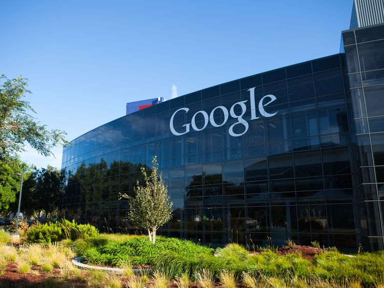 Google headquarters office at Mountain View in California