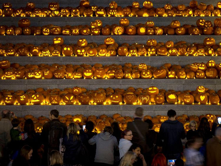 Hundreds of pumpkins were installed in Kings Cross in 2015