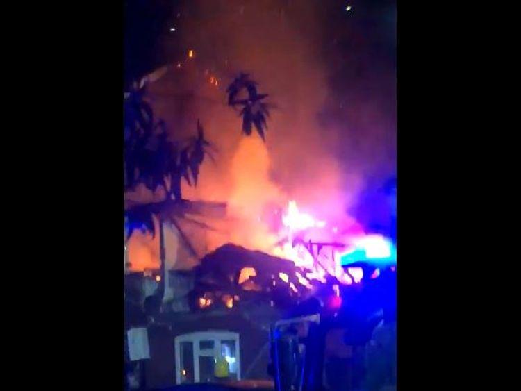 A house fire in Harrow. Pic: @rahmanalanezi