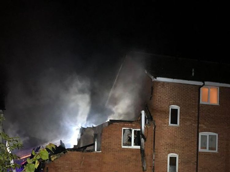 A fire at a block of flats in Harrow
