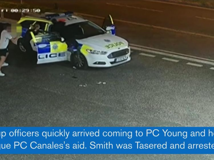 Other officers came to the aid of the two PCs