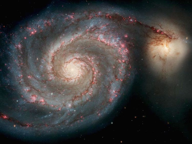 Image    The Whirlpool Galaxy is one of the most famous images Hubble captured