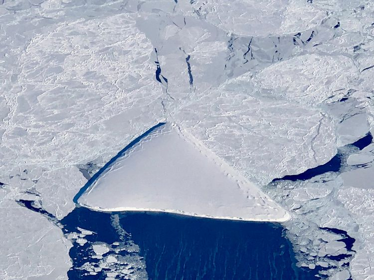 Iceberg captured by NASA