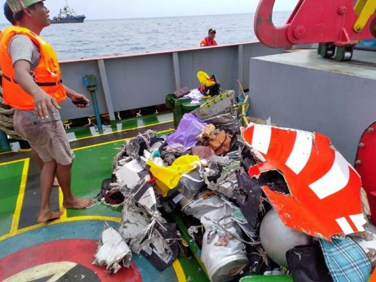 Some debris from the plane has been recovered. Pic: Sutopo Purwo Nugroho