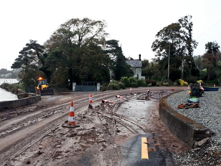 Mudslide in Cork.