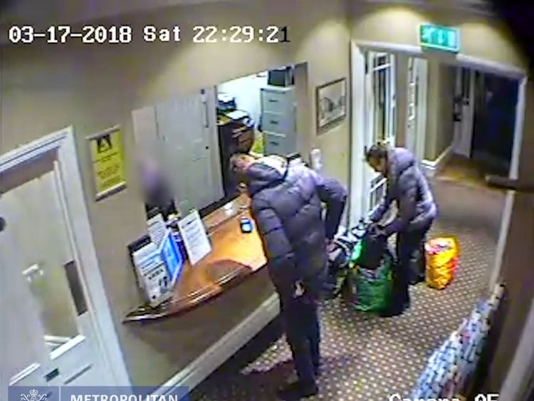 CCTV of Jesse McDonald and Natalia Darkowska checking in at the Park Hotel, Teddington