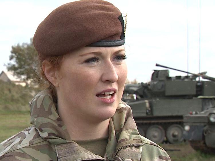 Lance Corporal Kat Dixon is a tank gunner