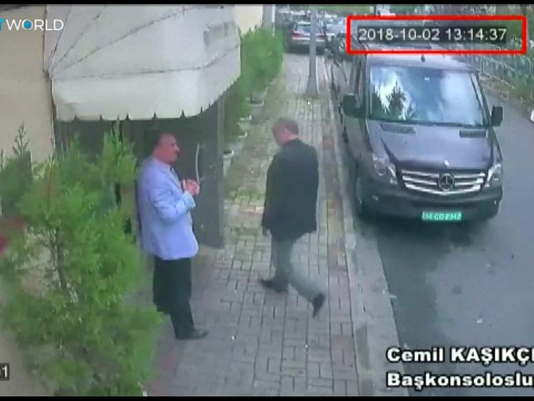 Turkey 'shares all evidence' with Central Intelligence Agency  chief relating to Khashoggi killing