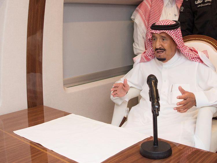 Mr Trump said King Salman denied 'any knowledge' of what happened to Mr Khashoggi