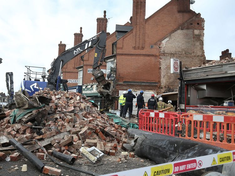 The blast destroyed the shop in February