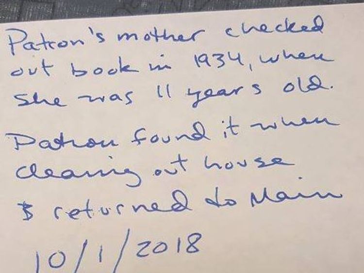 Overdue library book returned after 84 years