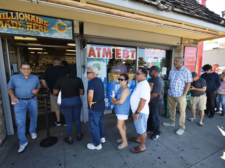 Lottery fever has gripped the USA as the jackpot has climbed