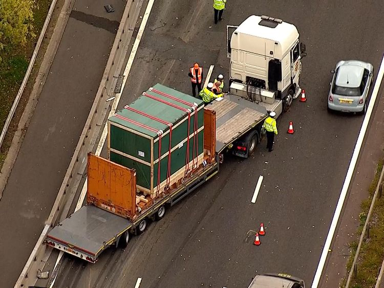 A  fatal crash on the M4 motorway left traffic gridlocked