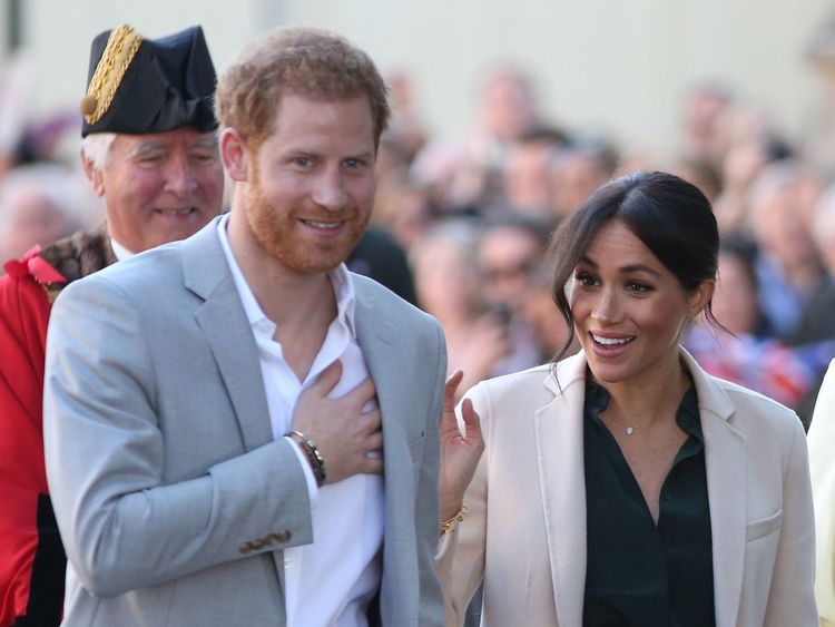 The Duke and Duchess of Sussex arrive at Edes House West Street Chichester as part of their first joint official visit to Sussex
