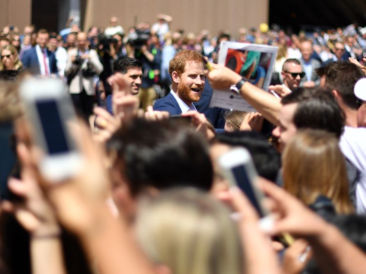 Prince Harry in Sydney