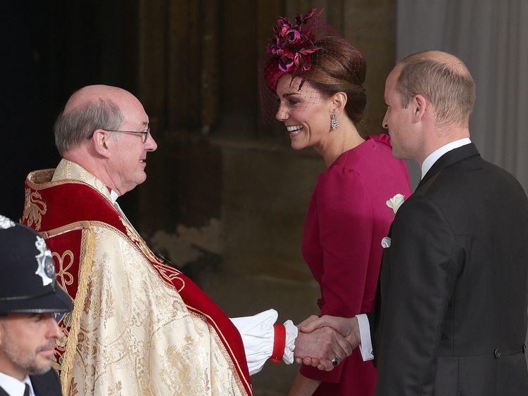 Catherine, Duchess of Cambridge and Prince William, Duke of Cambridge, arrive