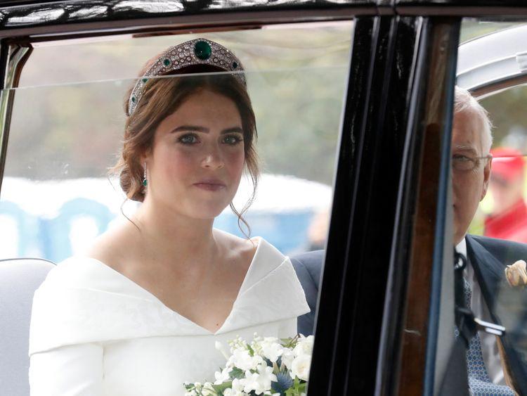 Princess Eugenie of York arrives