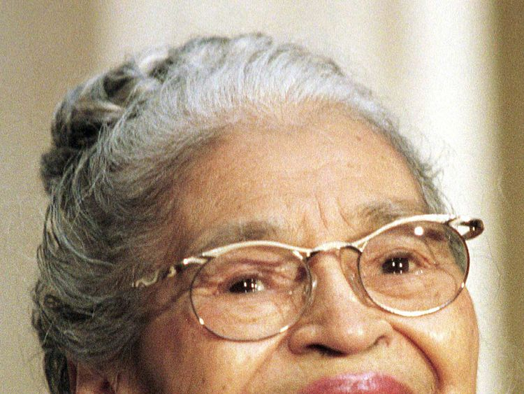File photo showing civil rights icon Rosa Parks at a ceremony where she was presented with the Congressional Gold Medal, on June 15, 1999