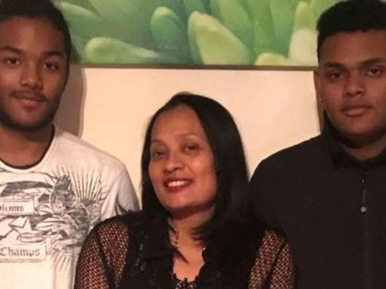 Sean Rajoobeer, 17, (left) Shane Rajoobeer,18 and and their mother Mary