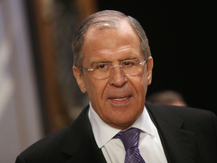 Sergey Lavrov says the visit was a 'routine' trip