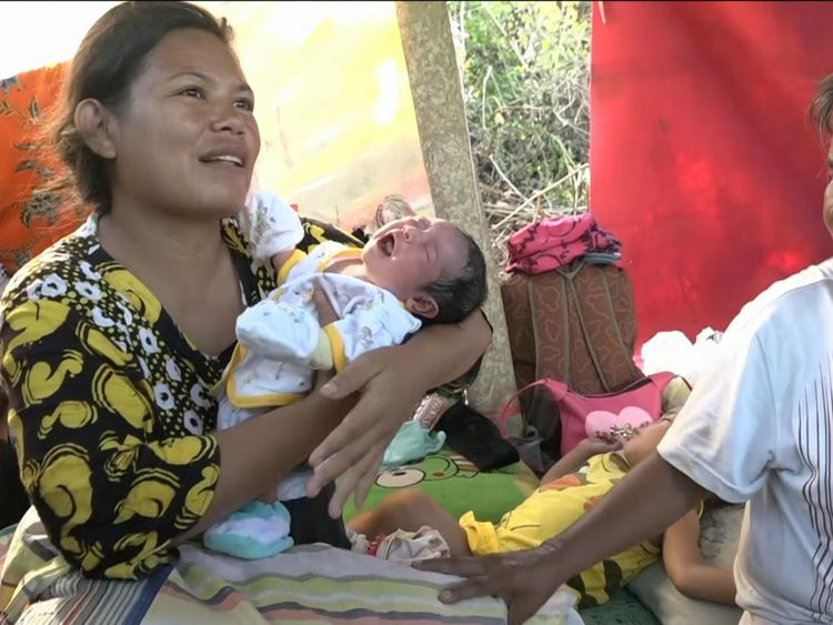 Three-day-old baby Gambita was born after the quake-Tsunami struck