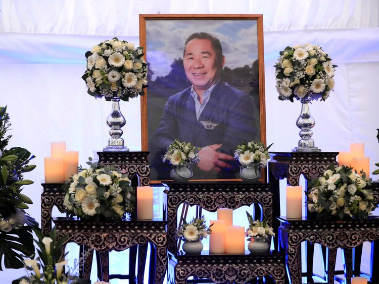 A book of condolence for Leicester Chairman Vichai Srivaddhanaprabha at Leicester City Football Club