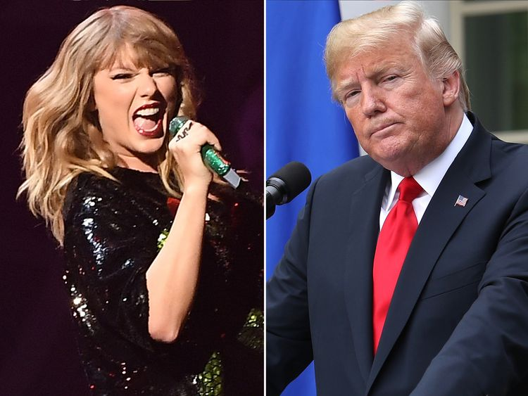 Taylor Swift sparks voter spike - as Trump hits back