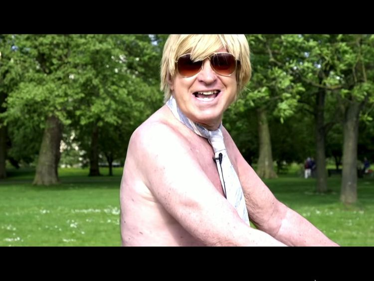 Tory MP Fabricant strips off for naked bike ride