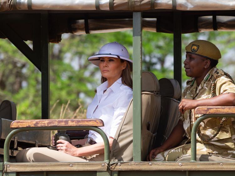 Melania Trump Shows Up In Kenya Dressed Like A Colonizer