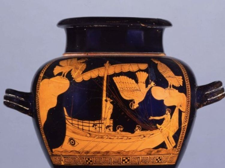 The ship is similar to that depicted on an ancient vase