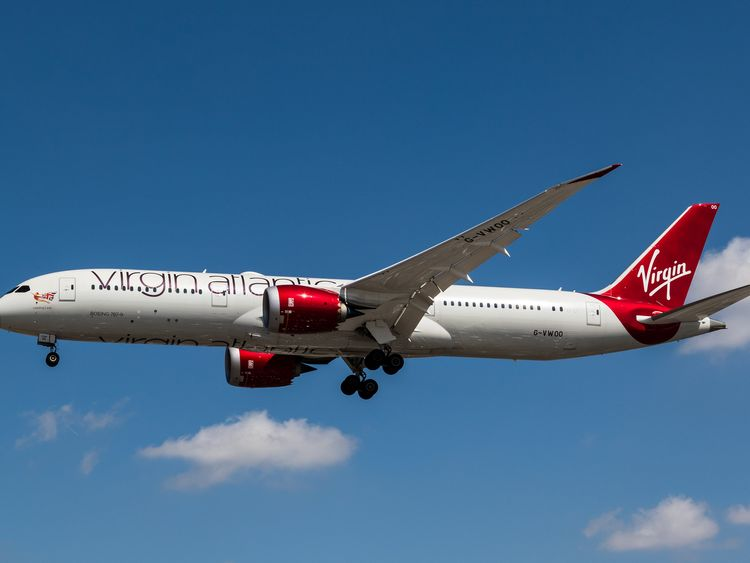 The Virgin Atlantic Dreamline aircraft carried up to 264 passengers. File pic
