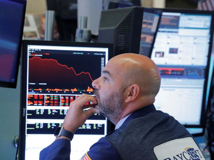 Asian markets down following Dow Jones slump
